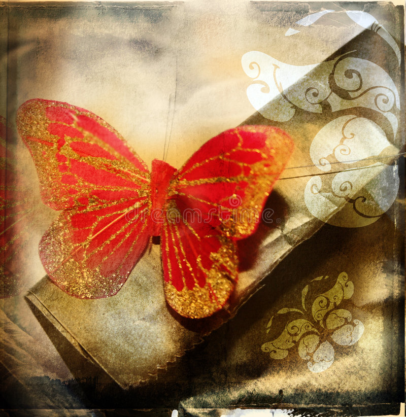 Download Grunge red butterfly stock photo. Image of designs, aged - 1058842