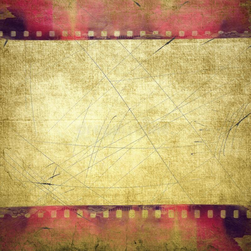 Grunge red film strip frame royalty free stock images