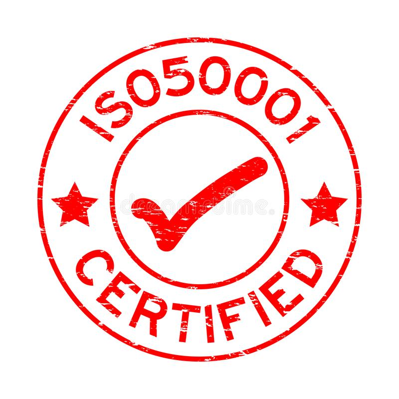 Iso Certification Red Stamp Stock Vector