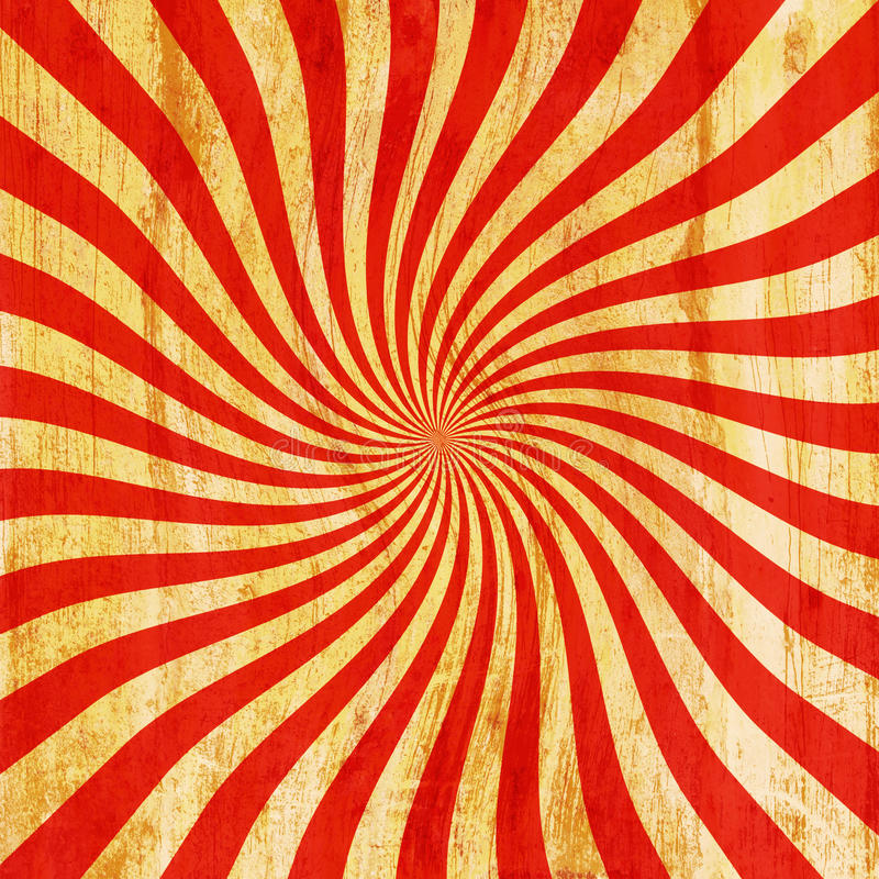 Grunge red and orange vintage sunburst swirl, twirl background t royalty free illustration
