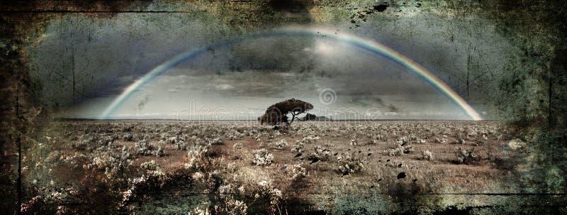 Grunge Regenbogen lizenzfreies stockbild