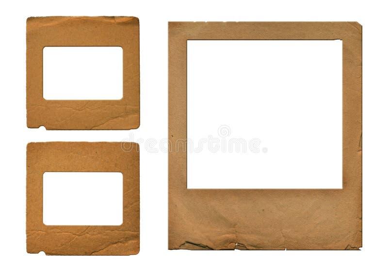 Grunge resbala en estilo scrapbooking stock de ilustración