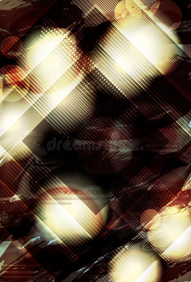 Grunge retro abstract background. Blurry abstract light effect background with diamond shape overlay vector illustration