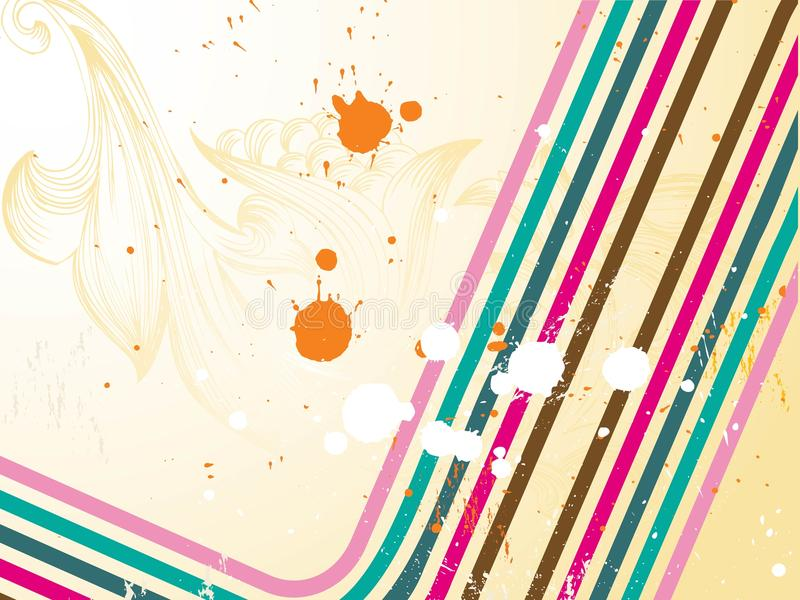 Grunge retro colorful background. stock illustration