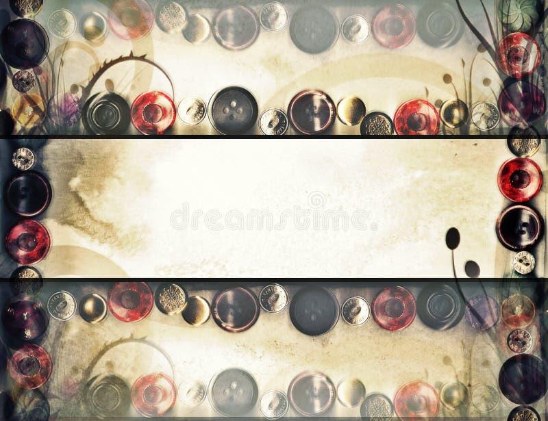 Grunge retro do fundo da mola floral fotos de stock