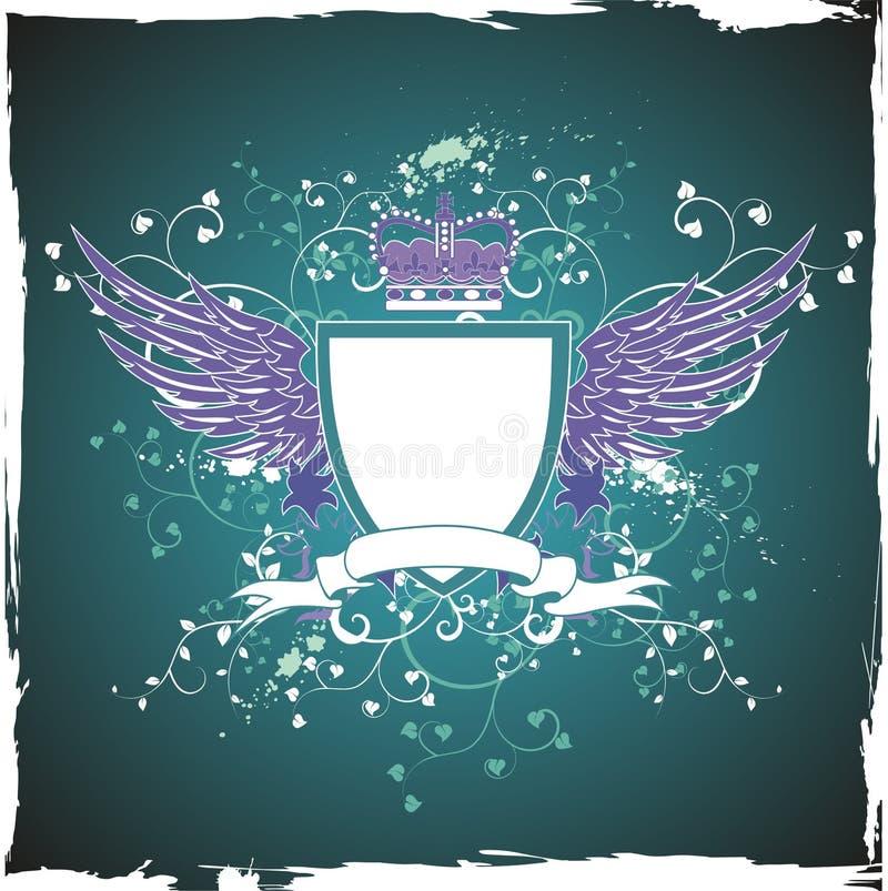 Download Grunge Retro Emblem On Dark Green Background Stock Photo - Image: 8974940