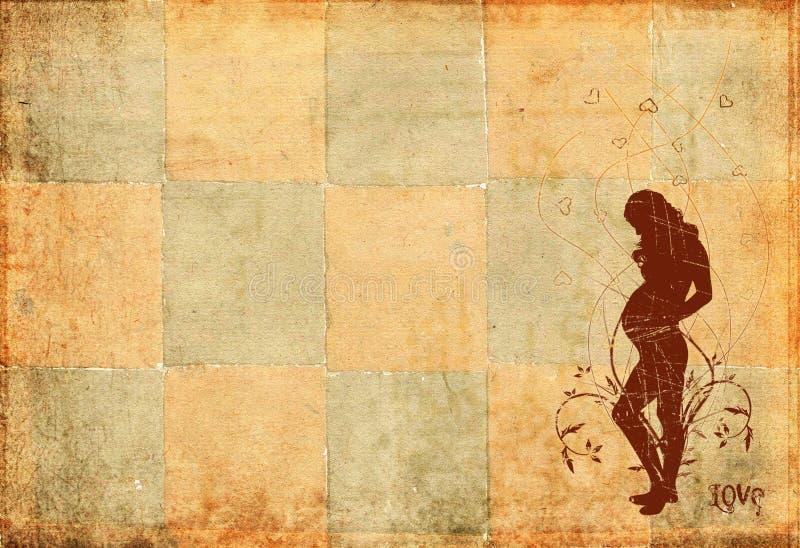 Grunge Retro- Hintergrund stock abbildung
