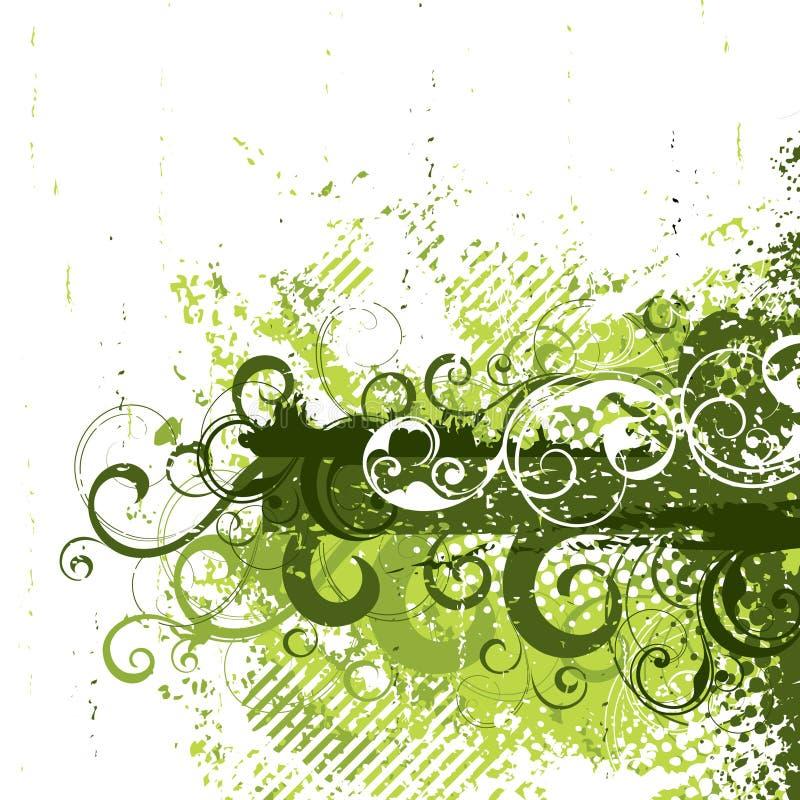Grunge retro no verde ilustração stock