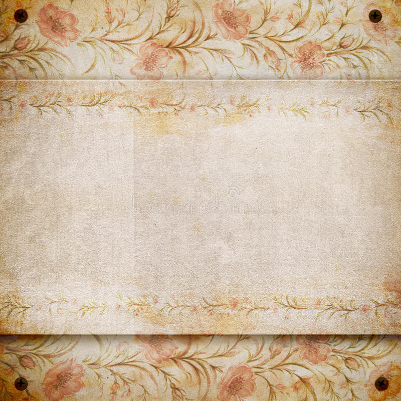 Grunge retro vintage paper background. stock illustration