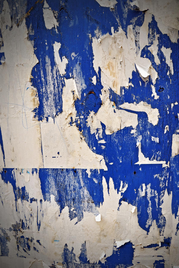 Download Grunge Ripped Poster Wall stock image. Image of white - 18502943
