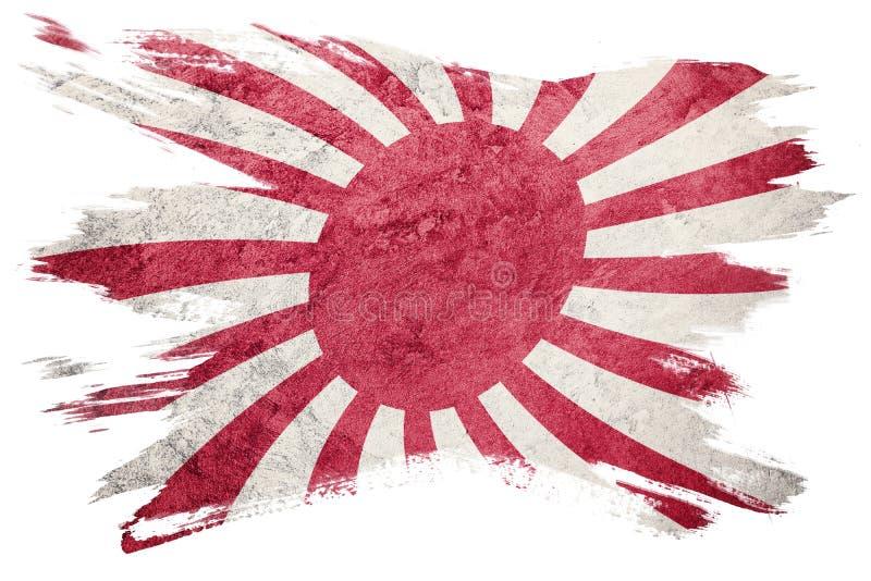 Grunge Rising Sun Japan flag. Japan flag with grunge texture. Br stock illustration