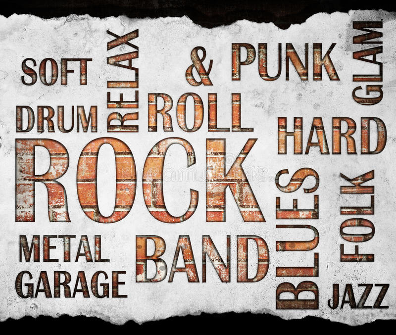 Grunge rock music poster. Background royalty free stock photography