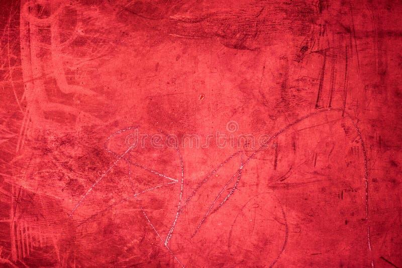 Grunge rode textuur als achtergrond/uitstekende geweven muur in dark stock afbeeldingen
