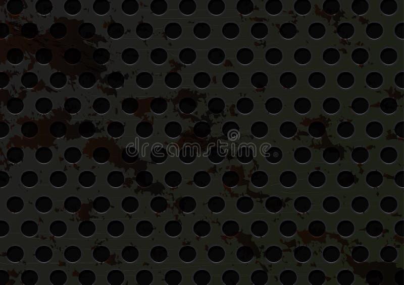 Grunge roestige scratehed vuil de textuur abstracte achtergrond van de staalrooster royalty-vrije illustratie