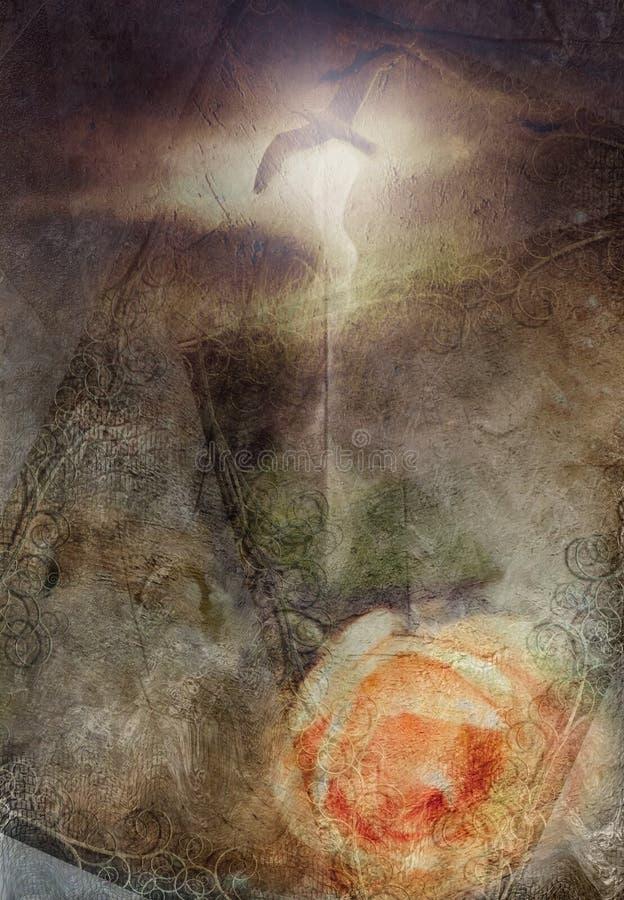 Grunge romance ilustração do vetor