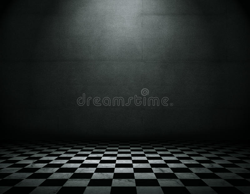 Grunge room background stock illustration