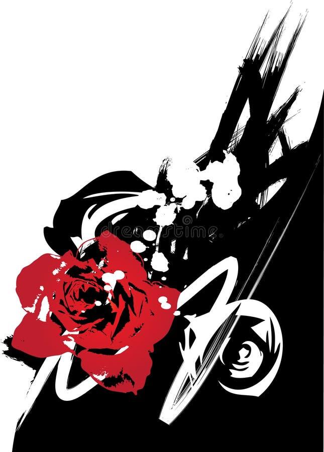 grunge rose wektora ilustracji