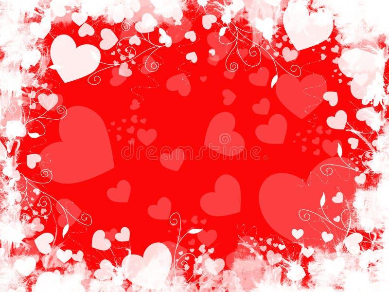 Grunge roter Inner-Hintergrund lizenzfreie abbildung