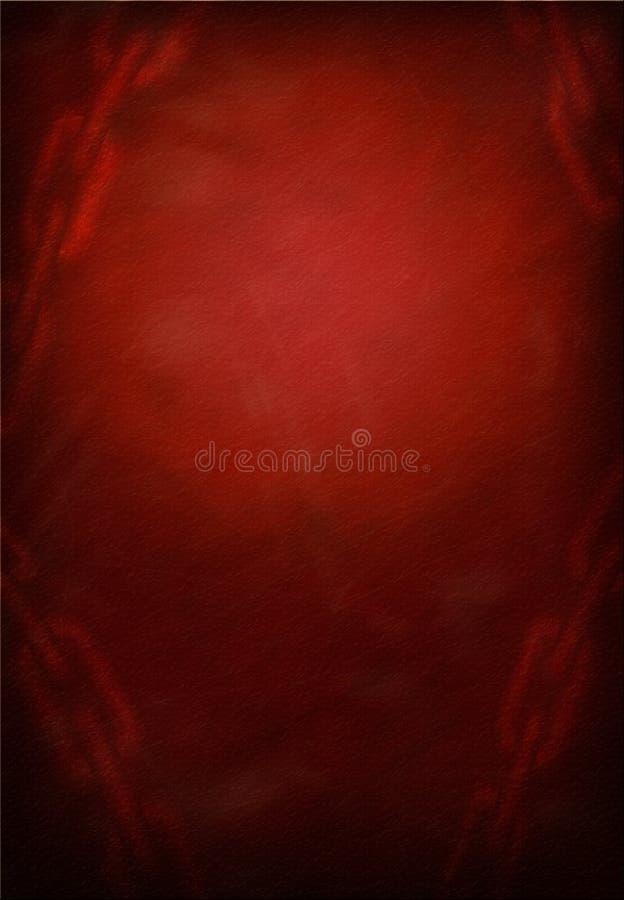 Grunge rouge à chaînes illustration libre de droits