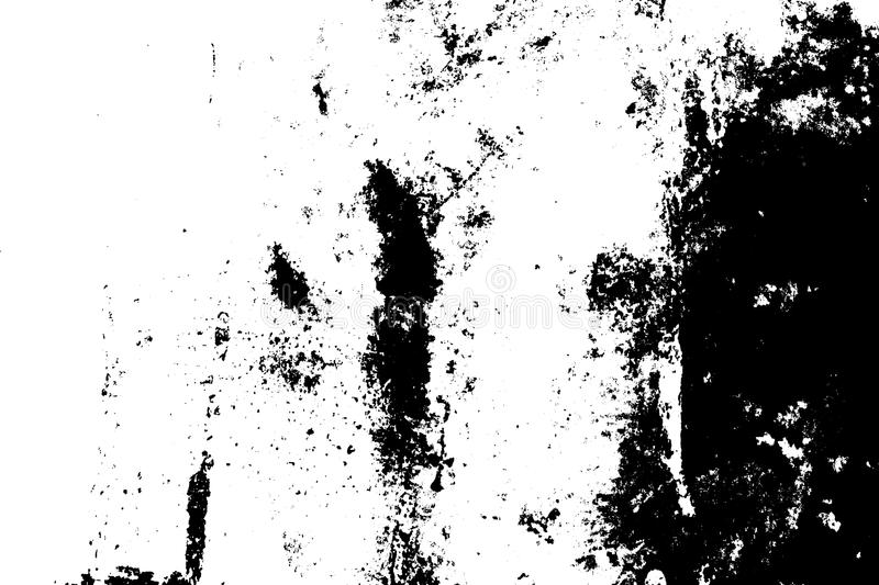 Distressed Overlay Texture. Grunge rough dirty background. Distress urban used texture. Brushed black paint cover. Overlay aged grainy messy template. Renovate royalty free illustration