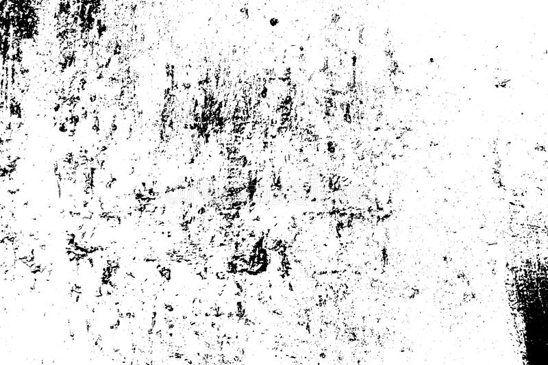 Distressed Overlay Texture. Grunge rough dirty background. Distress urban used texture. Brushed black paint cover. Overlay aged grainy messy template. Renovate vector illustration