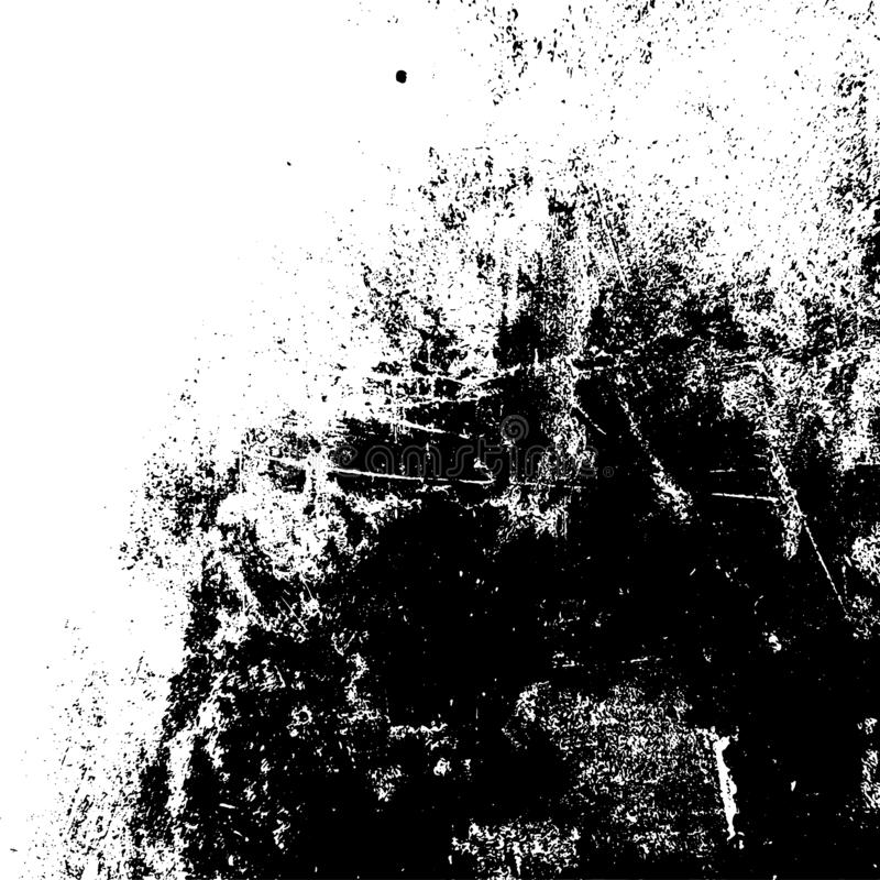 Distress Overlay Texture. Grunge rough dirty background. Distress urban used texture. Brushed black paint cover. Overlay aged grainy messy template. Renovate royalty free illustration