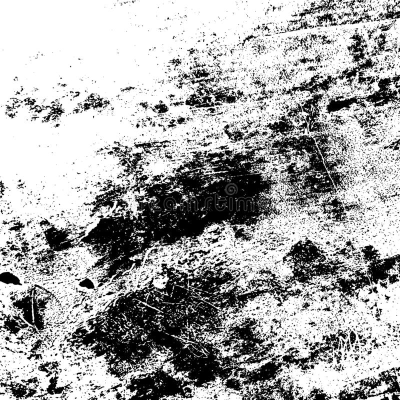 Grunge Overlay Texture. Grunge rough dirty background. Overlay aged grainy messy template. Distress urban used texture. Brushed black paint cover. Renovate wall royalty free illustration