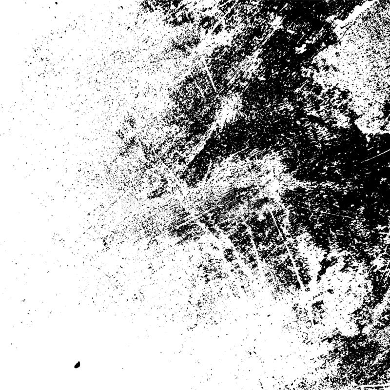 Grunge Overlay Texture. Grunge rough dirty background. Overlay aged grainy messy template. Distress urban used texture. Brushed black paint cover. Renovate wall stock illustration