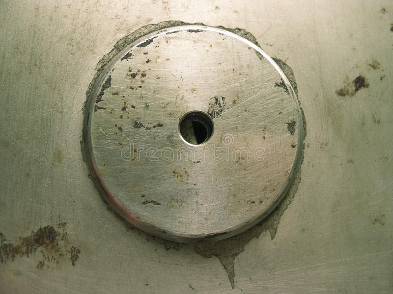 Download Grunge Round button metal stock image. Image of close - 25644879