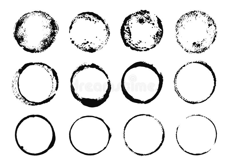 Grunge Round ramy ilustracja wektor