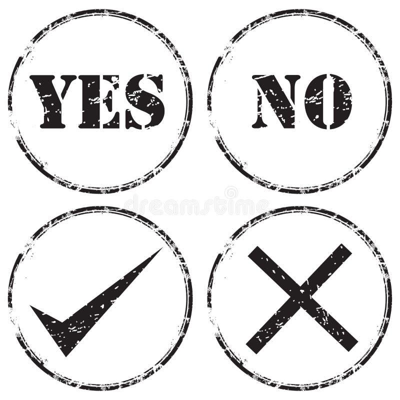 Grunge rubber stamp icon set royalty free illustration