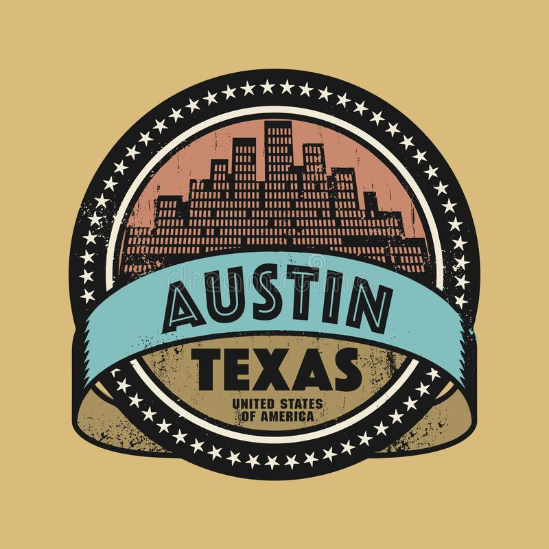 Grunge rubber stamp or label with name of Austin, Texas vector illustration