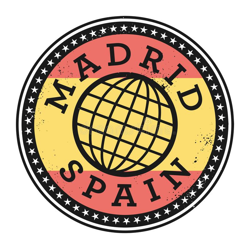 Grunge rubber stamp with the text Madrid, Spain vector illustration