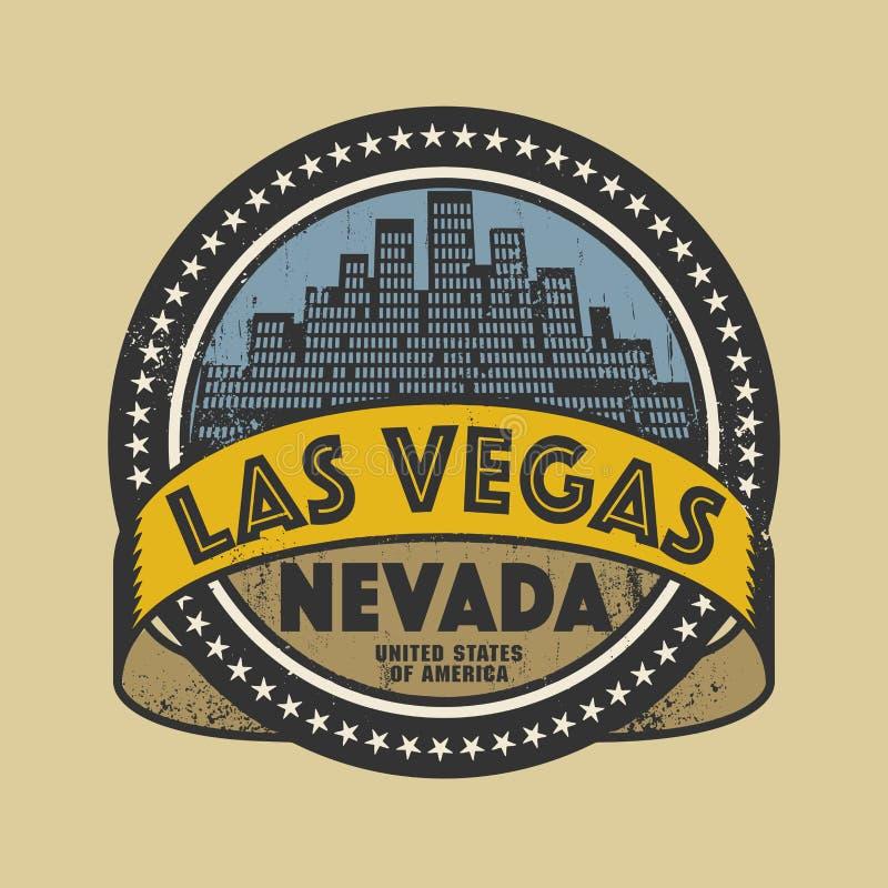 Grunge rubberzegel of etiket met naam van Las Vegas, Nevada stock illustratie