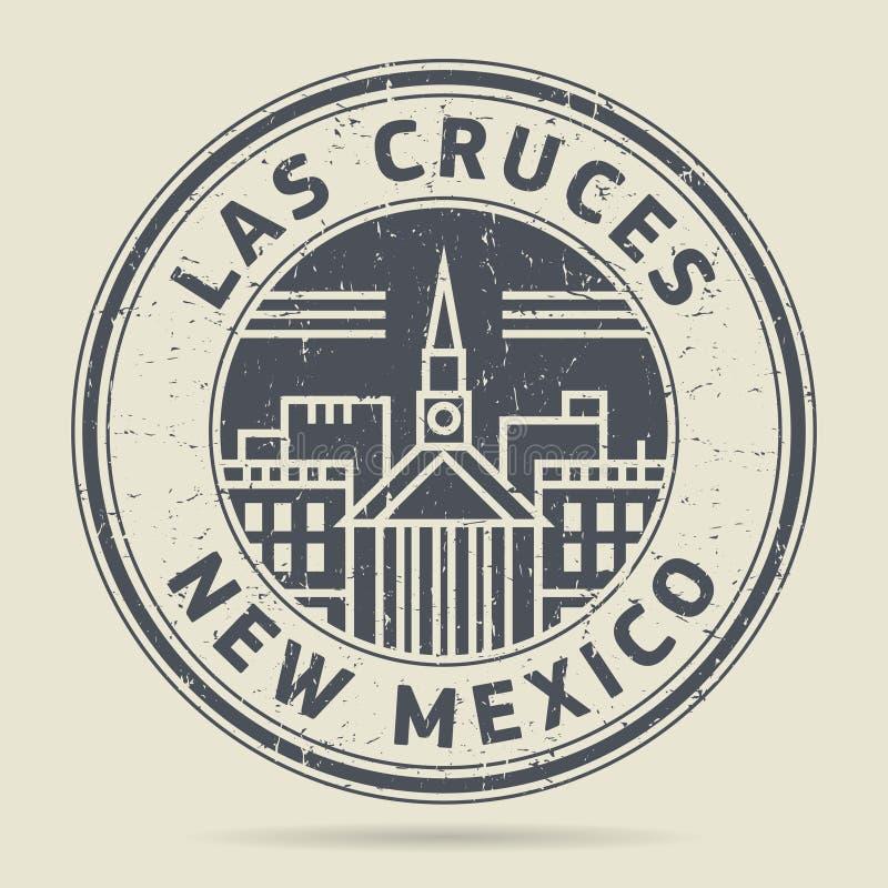 Grunge rubberzegel of etiket met tekst Las Cruces, New Mexico royalty-vrije illustratie