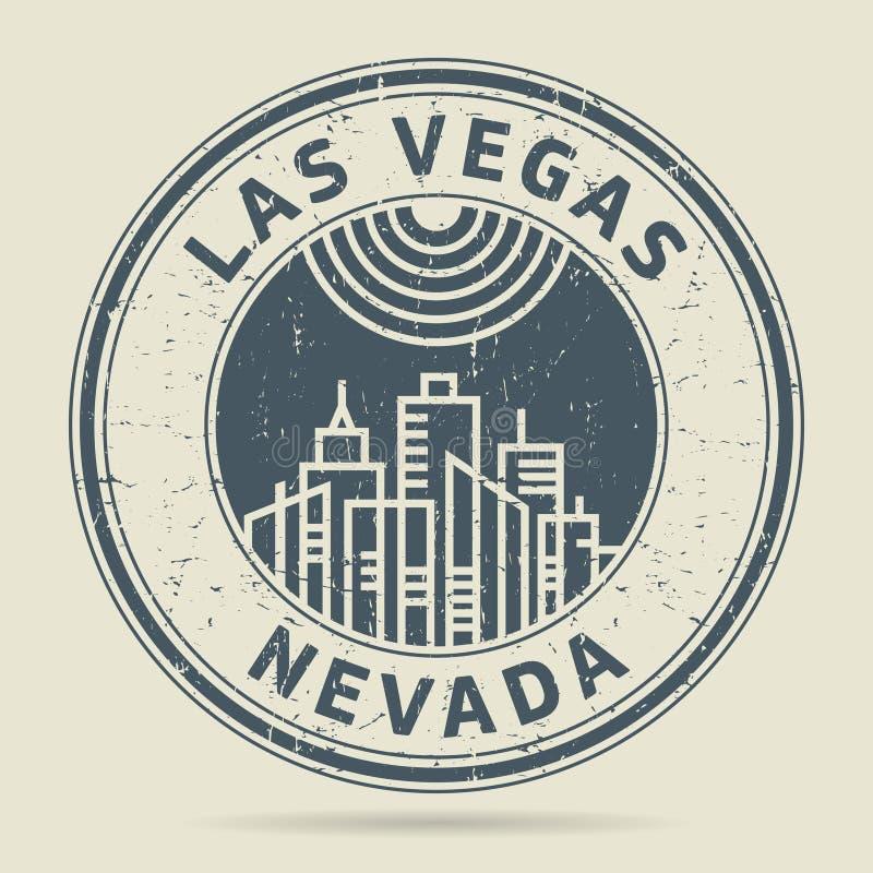 Grunge rubberzegel of etiket met tekst Las Vegas, Nevada royalty-vrije illustratie