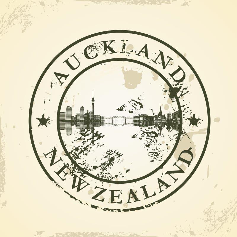Grunge rubberzegel met Auckland, Nieuw Zeeland royalty-vrije illustratie