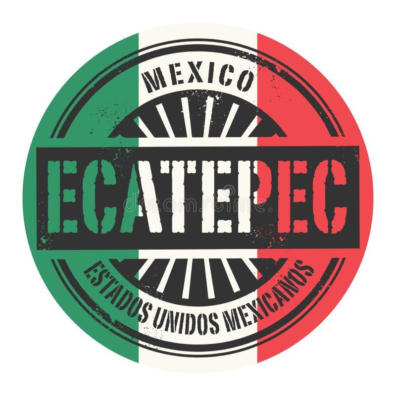 Grunge rubberzegel met de tekst Mexico, Ecatepec vector illustratie