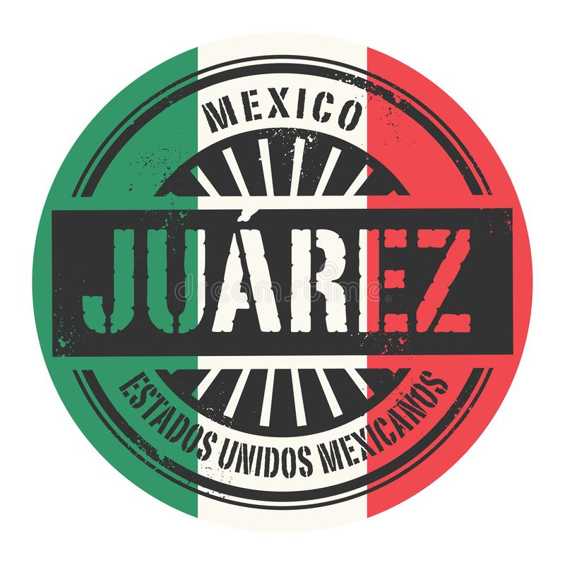 Grunge rubberzegel met de tekst Mexico, Juarez royalty-vrije illustratie