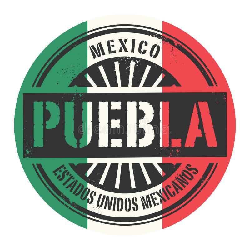 Grunge rubberzegel met de tekst Mexico, Puebla royalty-vrije illustratie