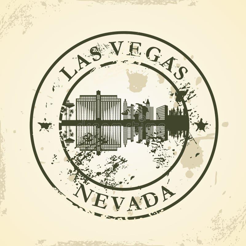 Grunge rubberzegel met Las Vegas, Nevada royalty-vrije illustratie