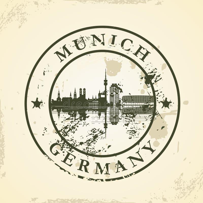 Grunge rubberzegel met München, Duitsland vector illustratie
