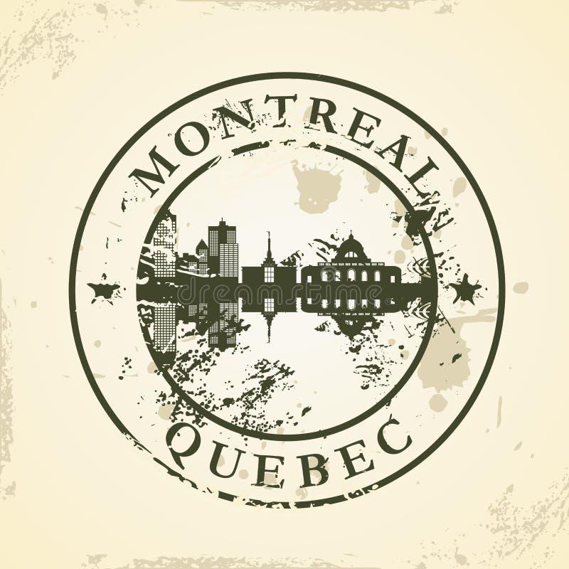 Grunge rubberzegel met Montreal, Quebec stock illustratie