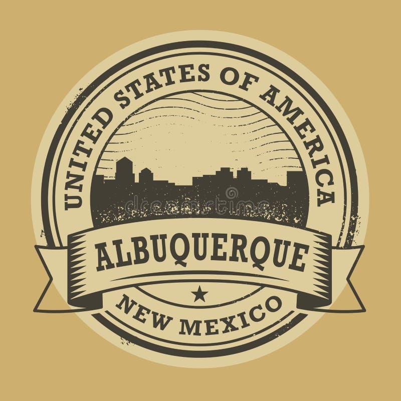 Grunge rubberzegel met naam van Albuquerque, New Mexico vector illustratie
