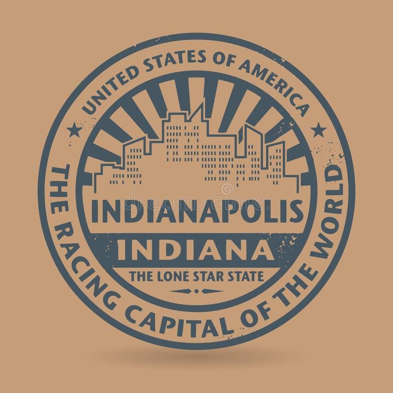 Grunge rubberzegel met naam van Indianapolis, Indiana royalty-vrije illustratie