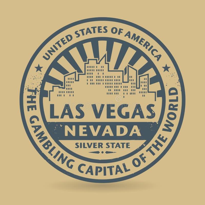 Grunge rubberzegel met naam van Las Vegas, Nevada royalty-vrije illustratie