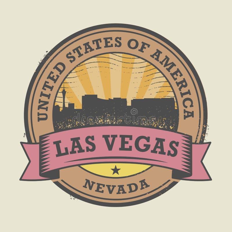 Grunge rubberzegel met naam van Nevada, Las Vegas vector illustratie