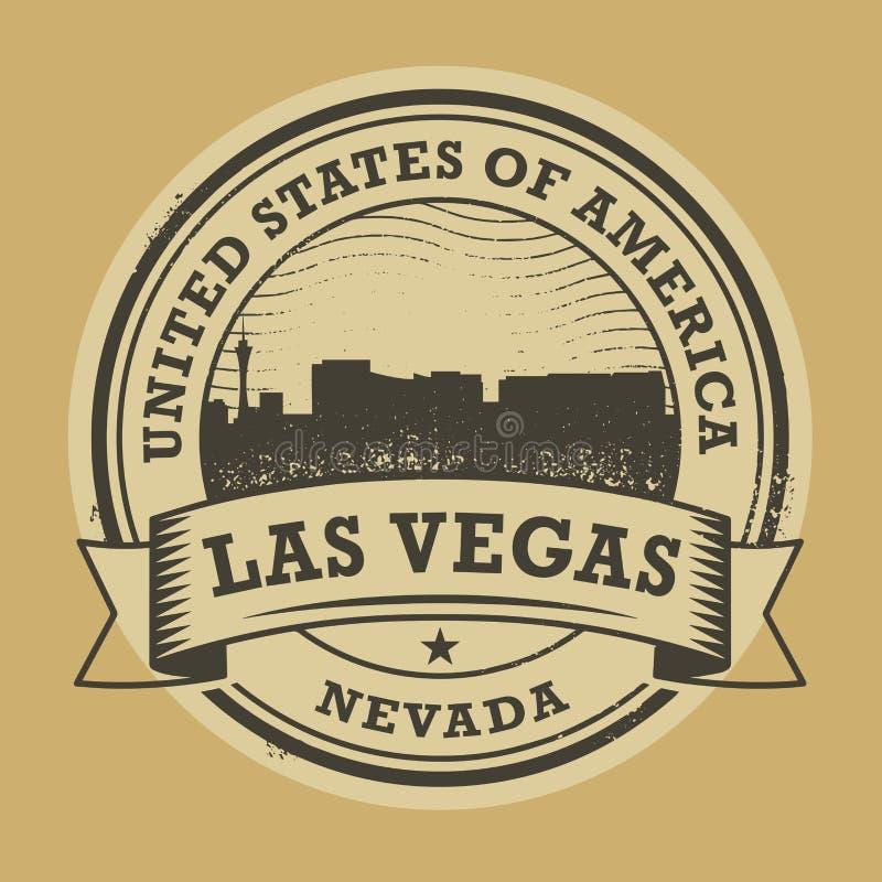 Grunge rubberzegel met naam van Nevada, Las Vegas royalty-vrije illustratie