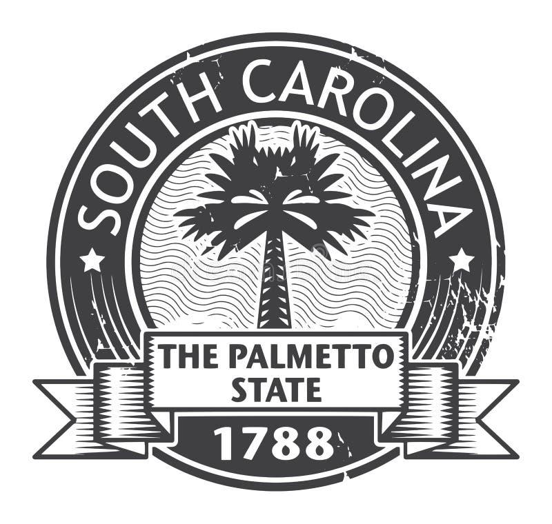 Grunge rubberzegel met naam van Zuid-Carolina vector illustratie