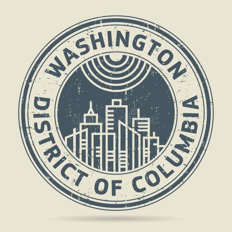 Grunge rubberzegel met tekst Washington, District van Colombia royalty-vrije illustratie